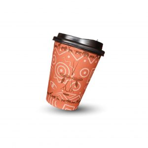 brown single wall paper cup
